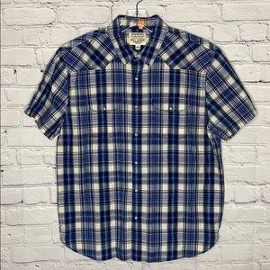 Lucky brand short sleeve flannel
